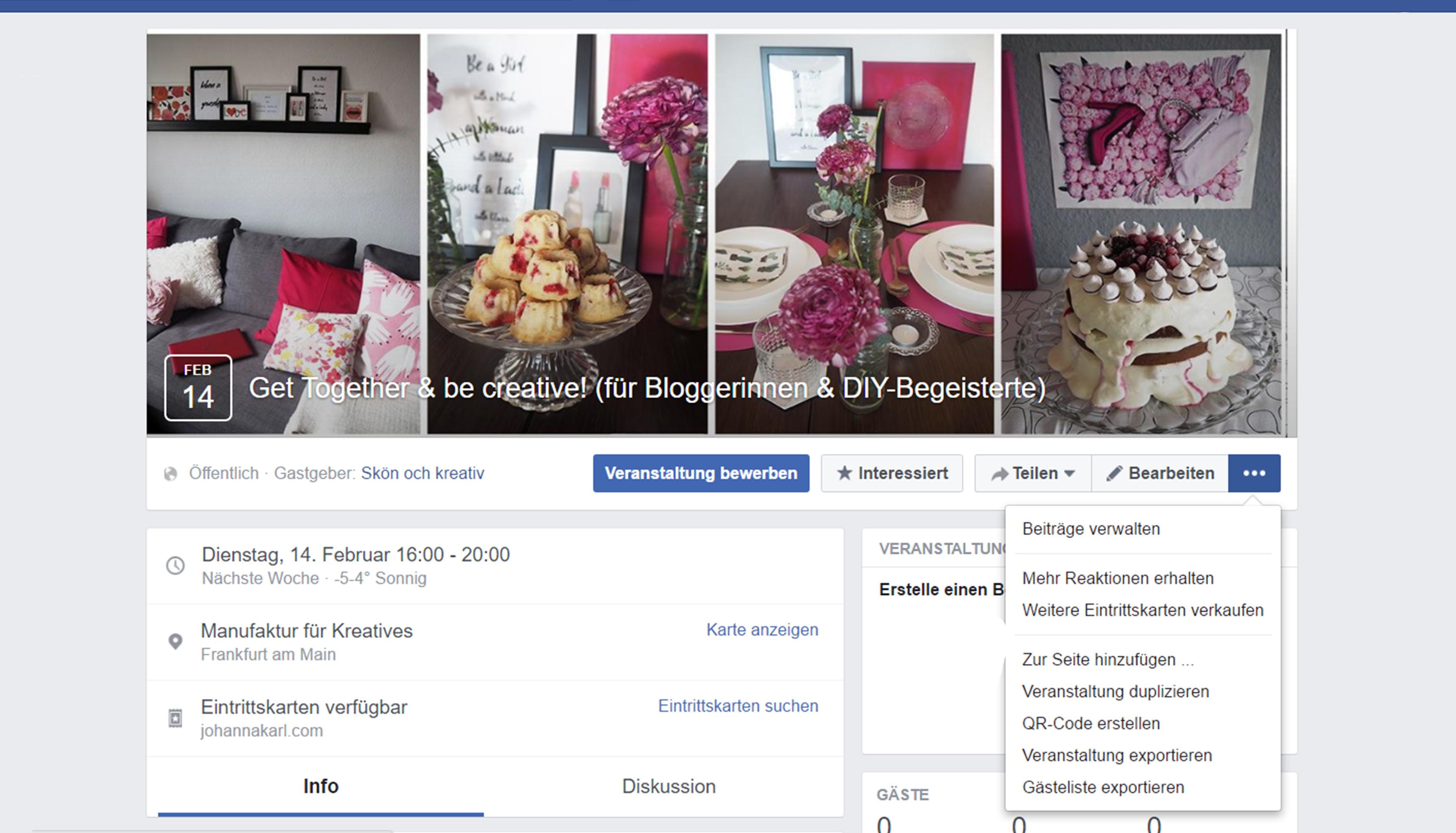 Facebook Event erstellen - Blue Face Media